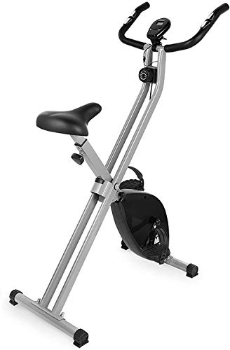 EVOLAND Bicicleta Estática Plegable, Bicicleta Estática de Fitness 8 Niveles de Resistencia...
