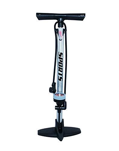 EM BIKE Bomba Inflador de Suelo Portátil con Manómetro Profesional para Bicicletas y...