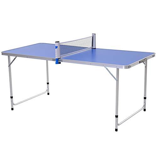 Outsunny Mesa de Ping-Pong Plegable Altura Ajustable en 3 Niveles con Palas y Pelotas de Pin...