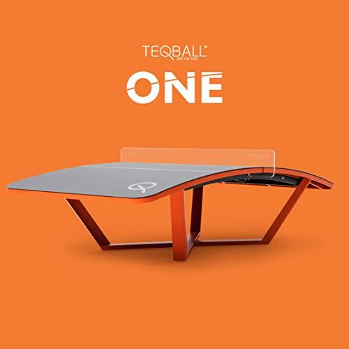 Teqball One, Unisex Adulto, Gris y Naranja, 3000, 1700, 900mm