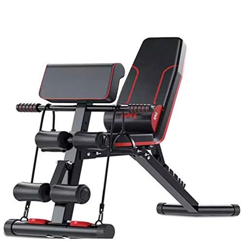 HJHY Banco de pesas ajustable para fitness - Banco de Musculacion Multifunción para...