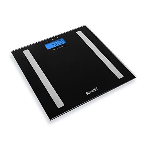 Duronic BS501 Báscula de Baño Digital/Análisis de Masa Corporal/Índice de Grasa/Porcentaje...