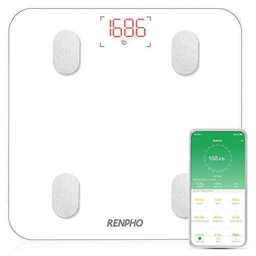 Báscula Grasa Corporal Báscula de Baño RENPHO Bluetooth Analizar Más de 13 Funciones,...