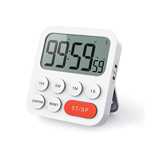 LIORQUE Temporizador de Cocina Digital Temporizador Multifunción con Función de Reloj, Ajuste...