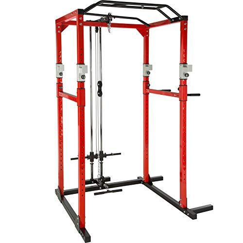 TecTake Multiestación de Fitness para Entrenamiento | 2 puntales de Seguridad macizos | Poleas...