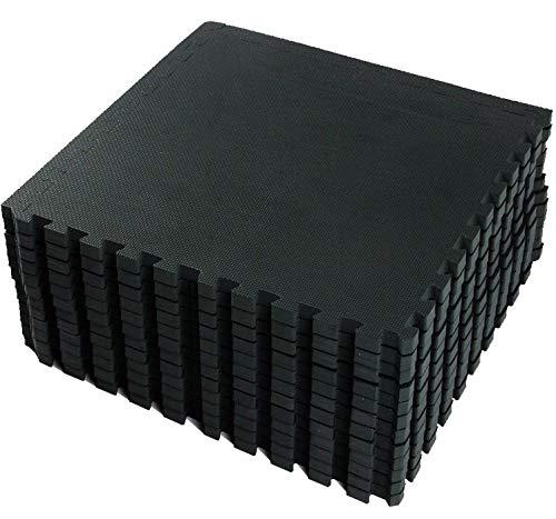 VLFit Esterilla Puzzle de Fitness – 18 losas de Goma Espuma + Bordes | Protección para el...