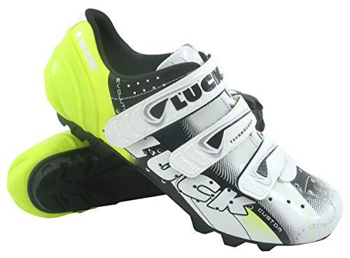 LUCK Extreme 3.0 MTB Zapatillas de Ciclismo, Adultos Unisex, Amarillo, 41 EU