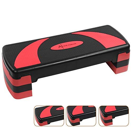 Active Forever Step para Fitness, 3 Alturas Ajustables, Adecuado para Uso doméstico y de...