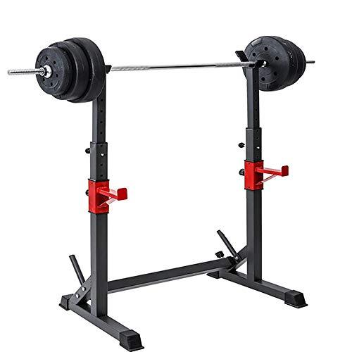 Rack de sentadillas de altura ajustable, Barra de entrenamiento físico de fuerza, Banco de...
