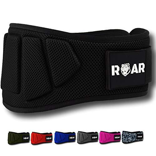 Roar® Cinturón musculación para Entrenamiento de Levantamiento de Peso Crossfit Powerlifting...