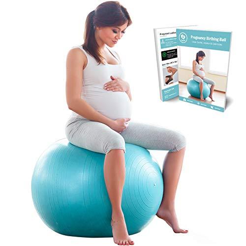 BABYGO Pelota de Pilates Embarazadas, Fitball, Ejercicio, Balón de Gimnasia Anti-Burst 1000 KG...