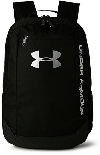 Under Armour UA Hustle Backpack LDWR Mochila, Hombre, Negro (Black/Black/Silver 001), Talla...