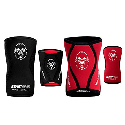 Beast Gear Rodilleras Deportivas Beast - Rodilleras Neopreno 5mm con Función Protectora y de...