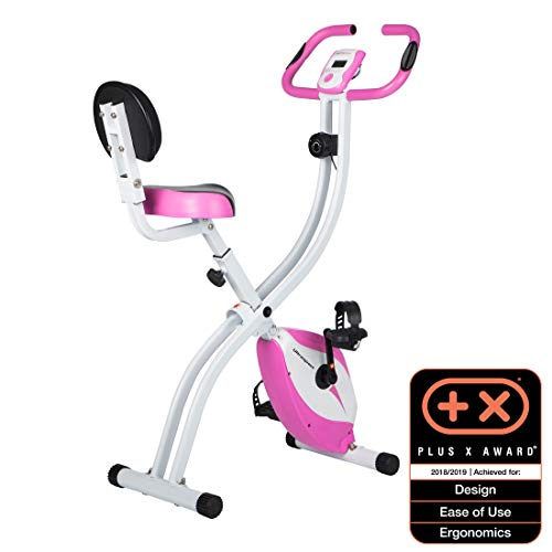 Ultrasport Unisex F-Bike, pantalla LCD, entrenador casero plegable, niveles de resistencia...