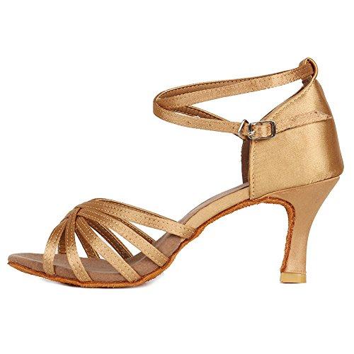 HROYL Zapatos de Baile Latino Mujer Salsa Tango Bachata Vals Zapatos de Baile de...