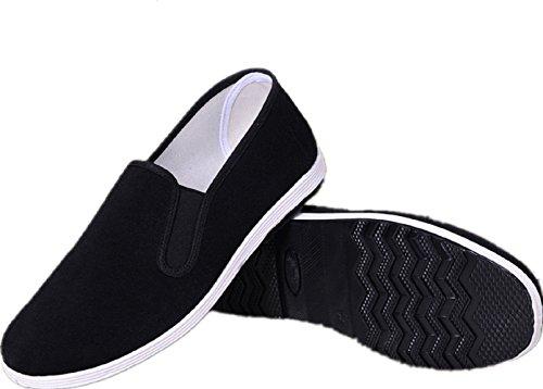 AioTio Zapatos Tradicionales Viejos Chinos de Pekín Kung Fu Tai Chi Zapatos Suela de Goma...