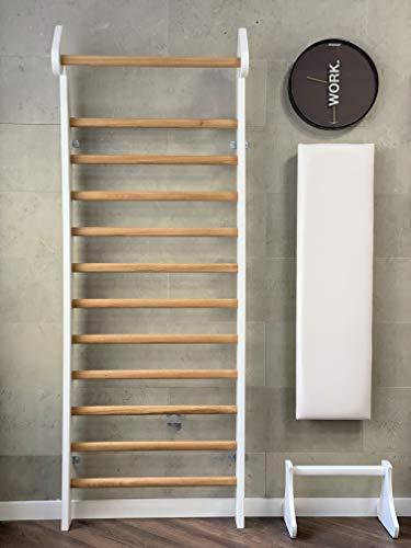 HeiMHholz Murum – Espaldera para fitness y deportes de fuerza en la espaldera, Color blanco.