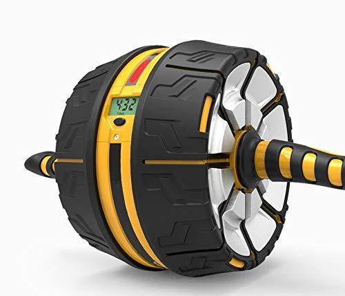 AplusT Rueda abdominal Auto-Retráctil para ejercicio abdominales - Ab Roller Wheel - con...