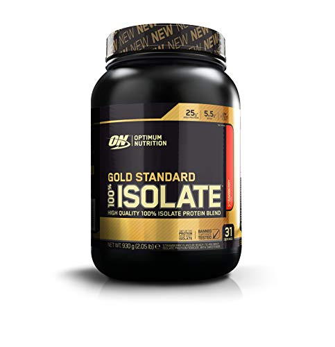 Optimum Nutrition Gold Standard Isolate Strawberry Proteína En Polvo, Proteína De Whey 100%...