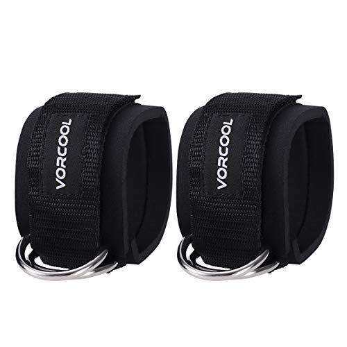 VORCOOL Sport tobillo correas acolchado anillo en D puños del tobillo para ejercicios de...