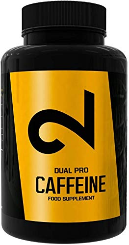 DUAL Pro CAFFEINE   Cafeína 100% Pura Certificada por Laboratorio   120 Pastillas De Cafeína...