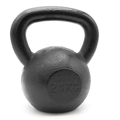 Goodbuy - Kettlebell de 2kg a 28kg. Pesa Rusa de Hierro Fundido con Base Plana, Ideal práctica...