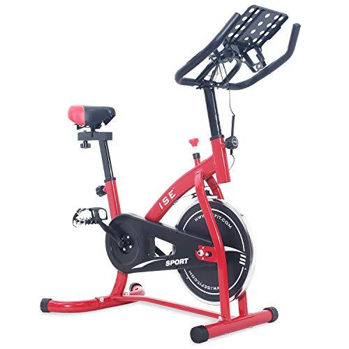 ISE Bicicleta Estática de Spinning con Sensor de Pulso, Ajustable Resistencia, Bicicleta para...