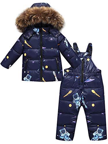 ZOEREA 2 Piezas Traje de Nieve Niños Abrigos Chaqueta con Capucha + Pantalones Niña Niño...