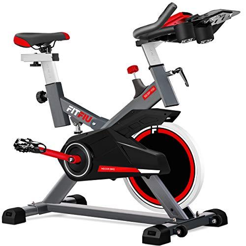 FITFIU BESP-100 - Bicicleta Spinning Indoor resistencia regulable con disco inercia 16kg, Bici...