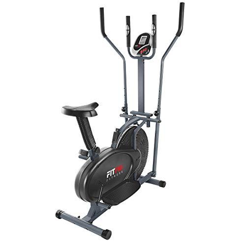 Fitfiu Fitness BELI-120 - Bicicleta multifunción Elíptica y Estática con sillín regulable y...
