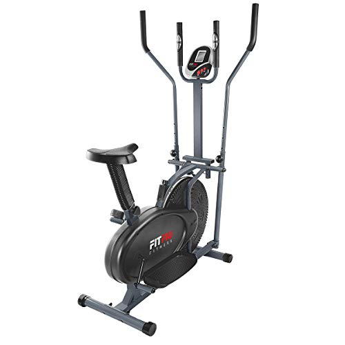 FITFIU Fitness BELI-120 - Bicicleta Elíptica con sillín regulable, multifunción Elíptica y...