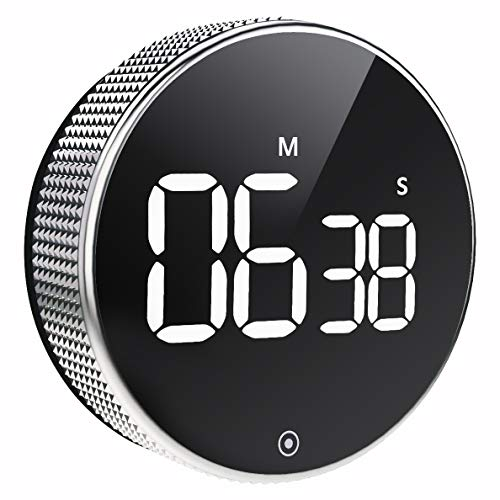 Temporizador Cocina Digital, Cronómetro LED Magnético Temporizador de Cuenta Atrás,...
