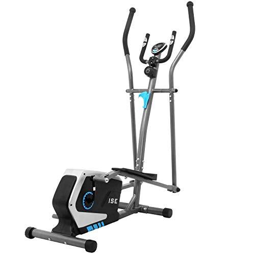 ISE Bicicleta Elíptica Profesional de Fitness para Casa con Sensor de Pulso,8 Niveles de...