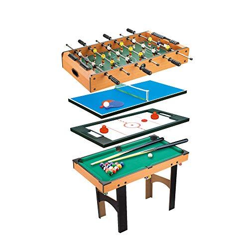 CalmaDragon Mesa Multijuegos Plegable 4 en 1 Billar, Medidas: 87 x 43 x 73cm. Ping Pong, Hockey...