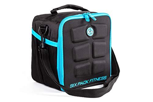 6 Pack Fitness Cube comida gestión bolsa de deporte bolsa de fitness incluye latas y bolsas de...