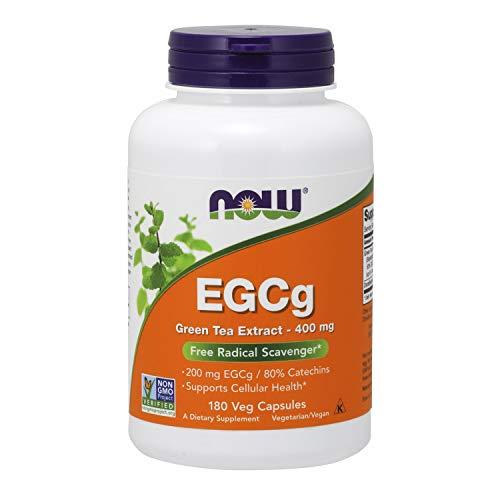 Now Foods, EGCg, Extracto de Té Verde, 400 mg, 180 Cápsulas vegetarianas, sin soja, sin...