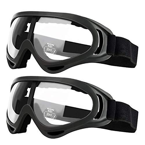 Pack de 2 gafas de seguridad para niños con protección anti niebla y protección ultravioleta...