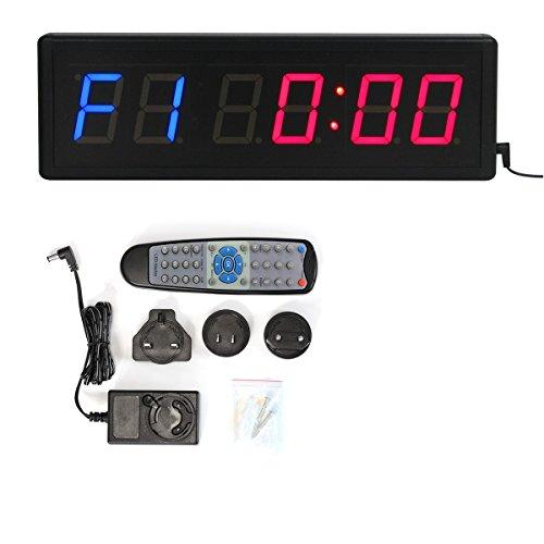 Dígitos LED cuenta atrás intervalo de gimnasio y fitness incluye mando a distancia...