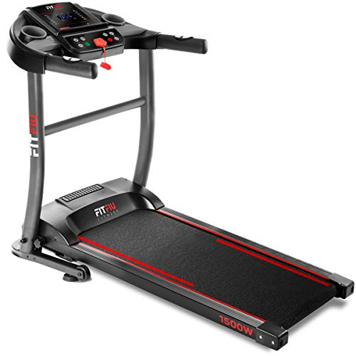 FITFIU Fitness MC-200 Cinta de correr plegable con velocidad hasta 14km/h, superficie de...