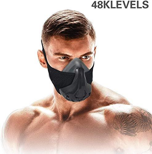 Máscara de entrenamiento Sport Capacidad vital Correr 48 Niveles de resistencia respiratoria...
