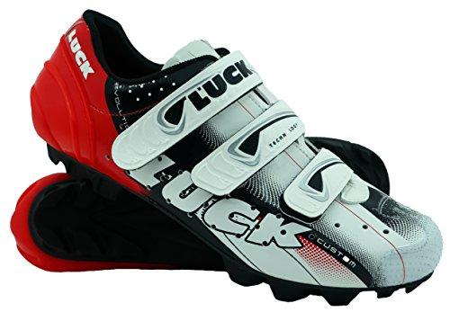 LUCK Zapatillas de Ciclismo Extreme 3.0 MTB,con Suela de Carbono y Triple Tira de Velcro de...