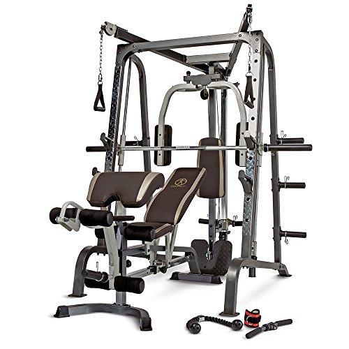 Marcy MD-9010G - Máquina de gimnasia (máquina Smith, banco de pesas extraíble, carga de 272...