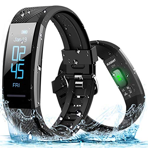 ELEGIANT Pulsera de Actividad Inteligente, Reloj Deportivo IP67 para Hombre Mujer con GPS...