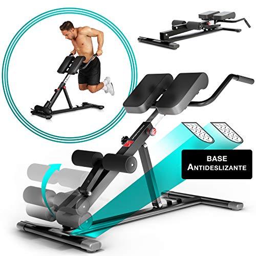 Sportstech BRT150 Entrenador de espalda y abdomen 6en1; ergonómico y ajustable; sistema único...