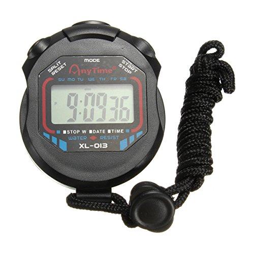 Cronómetro Deportivo, Cronómetro Cronógrafo Digital LCD Portátil Contador Cronómetro De...