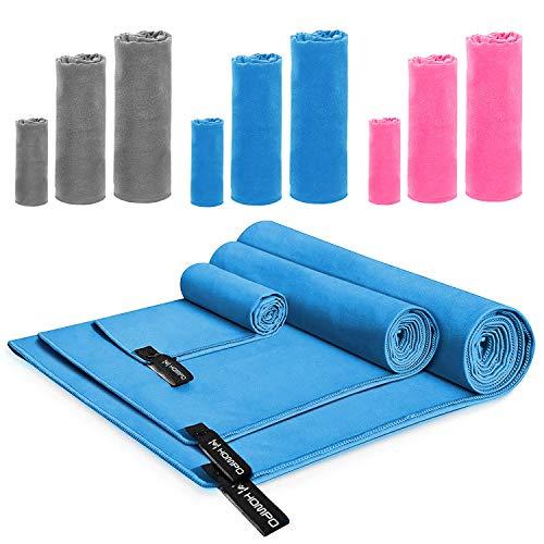HOMPO Toalla de Microfibra - Secado rápido, Ligera, Absorbente, Suave y grante Yoga, Fitness,...