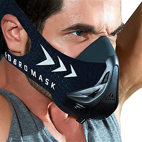 FDBRO Máscaras máscaras de Deportes, Estilo Negro, máscara;scara para Entrenamiento y...