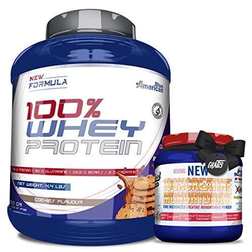 Whey Protein, Proteína en polvo + 300GR CREATINA O PRE-ENTRENO GRATIS - REGALO, Suplementos...