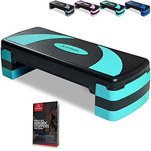arteesol Step de Aeróbic Stepper para Fitness Plataforma de Altura Ajustable(10/15/20 cm),...