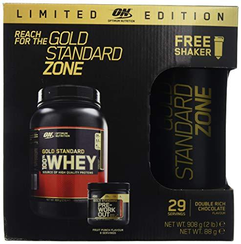 Optimum Nutrition Gold Standard Zone - Paquete para Antes y Después del Entrenamiento con...